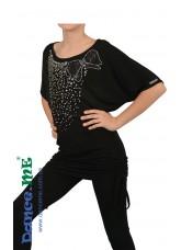 Dance Me Туника детская ТН258 бусы белые, полиамид, черный