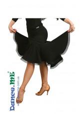 Dance Me Юбка женская для латины ЮЛ175, масло / кринолин, черный
