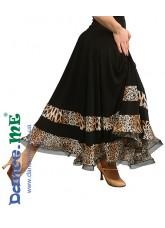 Dance Me Юбка женская для стандарта ЮС100-Кри-2, масло / сетка, черный, лео