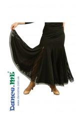 Dance Me Юбка для стандарта ЮС157-Кри-1, кристал / гипюр