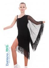 Dance Me Платье детское Dance Me ПЛ282, масло / сетка, черный