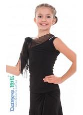 Dance Me Блуза детская БЛ249, масло, черный