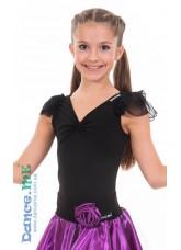 Dance Me Блуза детская БЛ337, масло / сетка черный