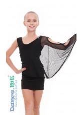 Dance Me Платье детское ПЛ240, масло / сетка, черный