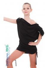 Dance Me Платье-туника детское ТН227, полиамид, черный