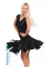 Dance Me Юбка для латины женская ЮЛ76-11-14, масло / гипюр, черный