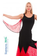 Dance Me Блуза женская БЛ293-11, масло / гипюр, черный / красный