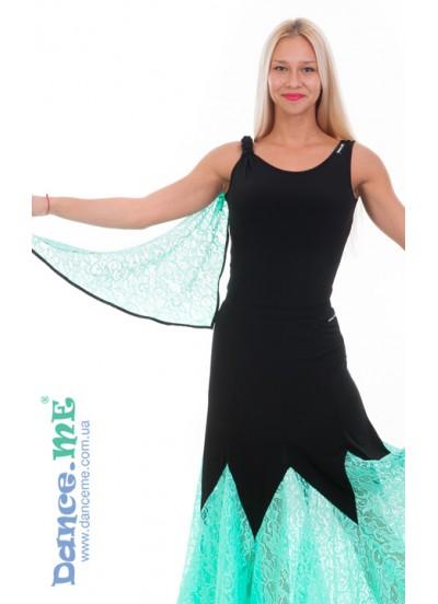 Женская булзка для танцев Dance Me БЛ293-11, цвета черный / мята