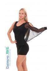 Dance Me Платье женское ПЛ240, масло / сетка, черный