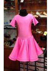 Рейтинговое платье 420 КР-К Dance.me, Украина, Бифлекс, Светло-Розовый №7