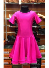 Рейтинговое платье 420 КР-К Dance.me, Украина, Бифлекс, Малиновый №22