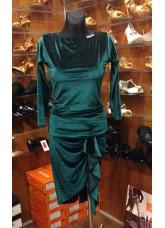 Блуза БЛ353-13 женская Dance.me, Украина, Бархат, Темно-Зеленый