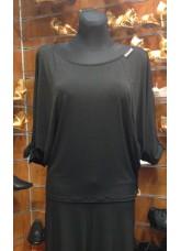 Dance Me Блуза женская BL385 , Масло+сетка, Черный