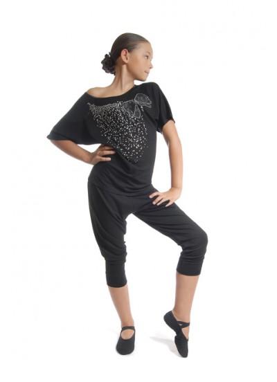 Dance Me Бриджи детские на резинке, черный