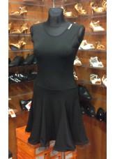 Платье Латина женское ПЛ140-6 Dance.me, Украина, Масло+сетка, Черный