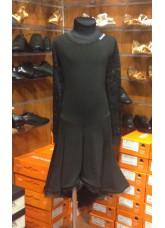 Платье Латина PL204-11# детское Dance.me, Украина, Масло+гипюр, Черный