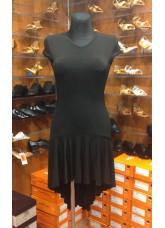 Платье Латина ПЛ71-11 Dance.me, Украина, Масло+гипюр, Черный