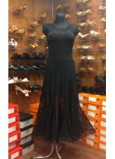 Платье Стандарт ПС262-11 Dance.me, Украина, Масло+гипюр, Черный
