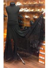 Юбка для девочки ЮС264-Кри11 Dance Me, масло / гипюр, черный