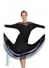 Dance Me Блуза женская БЛ153, масло / сетка черный