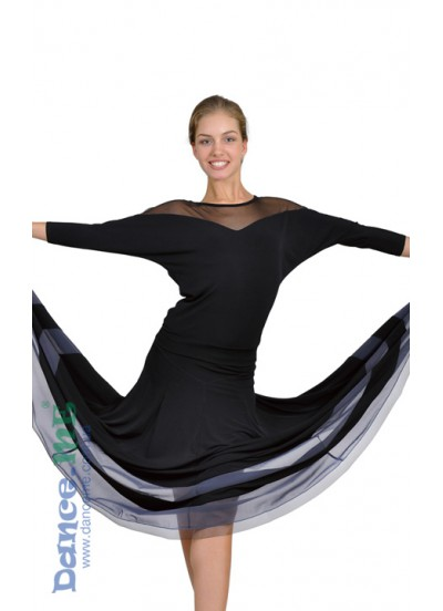 Женская блуза БЛ153 для бально-спортивных танцев производства Dance Me