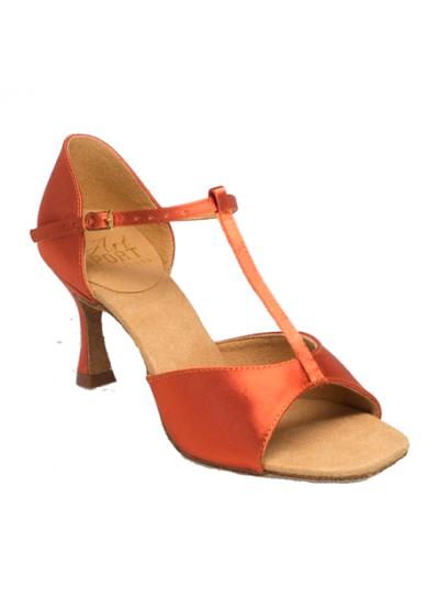 Обувь женская для латины Ray Rose 812-X  Snow Flake, Dark Tan Satin