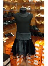 Блуза детская БЛ221-8 Dance.me, Украина, Масло+сетка, Черный