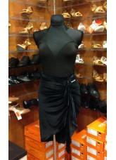Блуза женская БЛ386 Dance.me, Украина, Масло+сетка, Черный