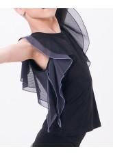 Dance Me Блуза женская БЛ24-3, масло / сетка, серый