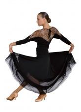 Dance Me Юбка для стандарта ЮС100-Кри женская, масло / сетка, черный