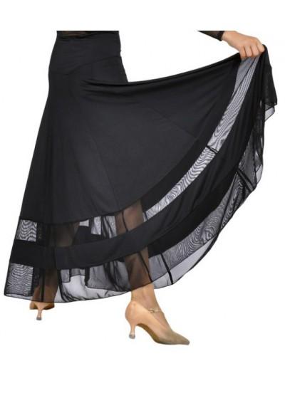 Dance Me Юбка для стандарта ЮС100 женская, масло / сетка, черный