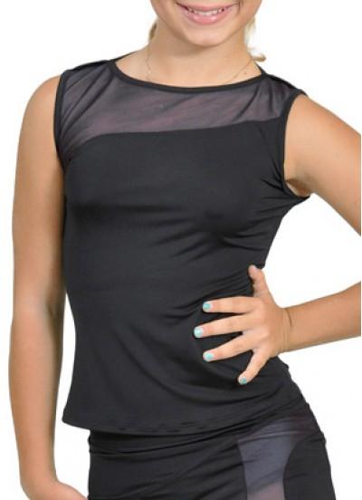 Dance Me Блуза женская БЛ119-2, масло / сетка, серый