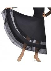 Dance Me Юбка для девочки ЮС100, масло / сетка, черный