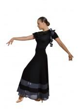 Dance Me Юбка для стандарта ЮС100-3 женская, масло / сетка, серый
