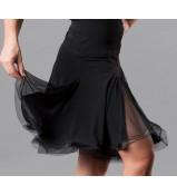 Dance Me Юбка для латины женская ЮЛ76-СР-14, масло / сетка, черный
