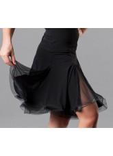 Dance Me Юбка для латины женская ЮЛ76-СР, масло / сетка, черный