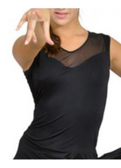 Dance Me Блуза женская БЛ105, масло / сетка, черный