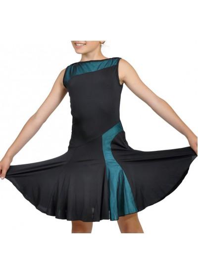 Dance Me Платье женское ПЛ123-3, масло / сетка, черный, голубой