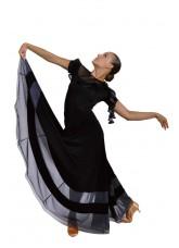 Dance Me Юбка для стандарта ЮС100-3Кри женская, масло / сетка, черный, серый