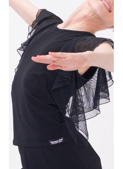Dance Me Блуза женская БЛ24, масло / сетка, черный