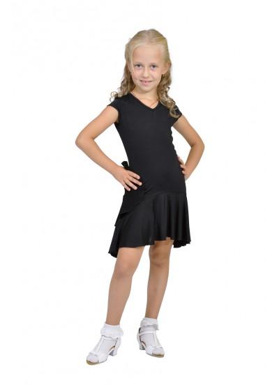 Dance Me Платье детское ПЛ71, масло / сетка, черный