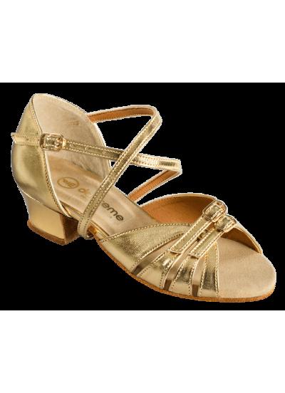 Танцевальные туфли для девочки Dance Me БК 2001, золото, кожа искусственная