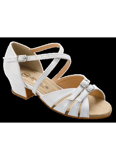 Танцевальные туфли для девочки Dance Me БК 2001, белый, лак