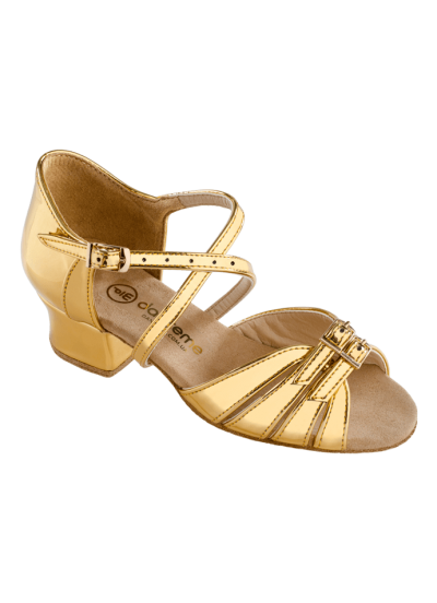 Обувь блок каблук 2002 Dance.me, Украина, золото лак голограм