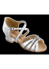 Обувь блок каблук 2002 Dance.me, Украина, серебро лак голограм