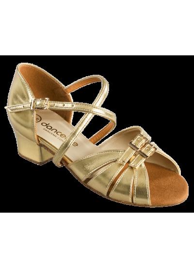 Обувь блок-каблук 2003 Dance.me, Украина, БК, Золотой, кожзам