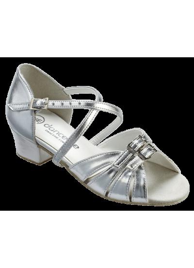 Обувь блок-каблук 2003 Dance.me, Украина, БК, Серебряный, кожзам