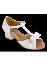 Обувь блок каблук 2028 Dance.me, Украина, белый/лак