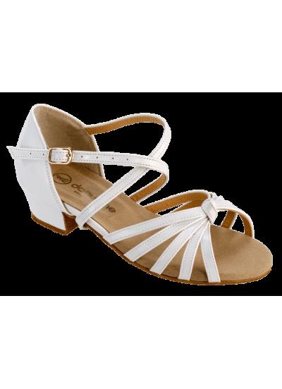 Детские танцевальные туфли Dance Me БК 2033, лак белый