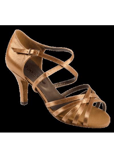 Женские туфли для латины Dance Me 4201, кедр сатин